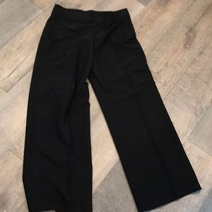 Eileen fisher black wide leg pull on pants. Size M